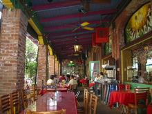 Outdoor dining at Mi Tierra San Antonio, Texas